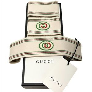 Gucci GG Logo Headband and Wrist Cuffs Set Martin